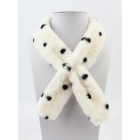 "Scarf ""Fur & Dots"" white"