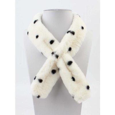 """Scarf """"Fur & Dots"""" white"""