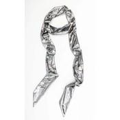 """Skinny scarf """"Uni tie"""" silver"""
