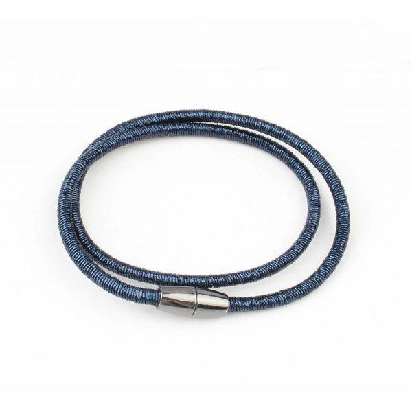 "Wikkelarmband ""Spiraal"" blauw"