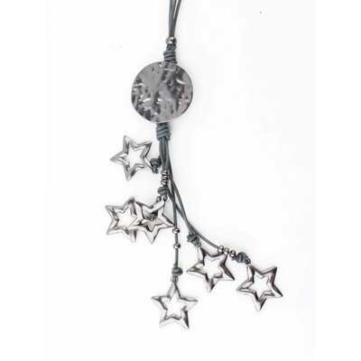 "Long necklace ""Jenna"" grey"