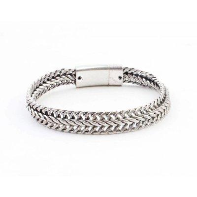 """Stahl Armband """"Nisa"""" silber"""