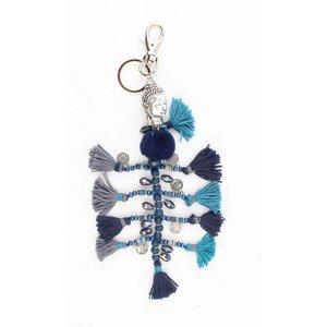 """Schlüsselanhänger """"Buddha"""" blau"""