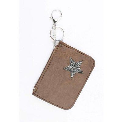 """Keychain """"wallet"""" brown"""