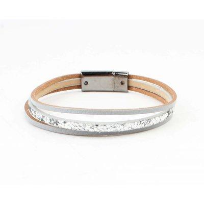 """Armband """"Louise"""" Silber/grau"""