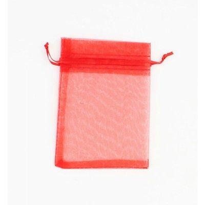 Organza bag red S, per 50pcs.