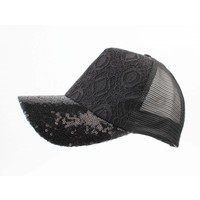 "Cap ""Embroidery & Sequin"" black"