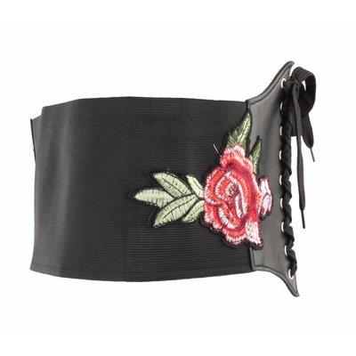 "Corset belt ""Rose"" black"