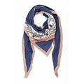 """Scarf """"Embroidery"""" blue"""