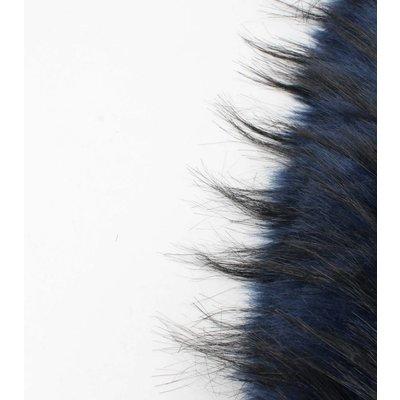 """Skinny sjaal """"Bont"""" blauw"""
