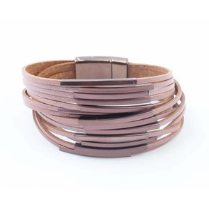 "Armband ""Multi Buizen"" roze"