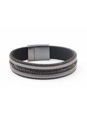 """Armband """"Ketting & Strass"""" zwart"""