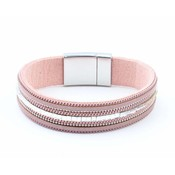 "Bracelet ""Necklace & Rhinestone"" pink"