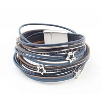 "Wrap bracelet ""Star"" blue"