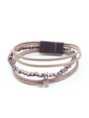 """Bracelet """"Stars"""" golden brown"""