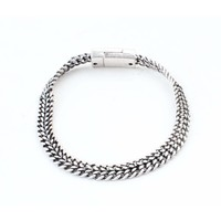 """Armband """"V Schakels"""" zilver"""
