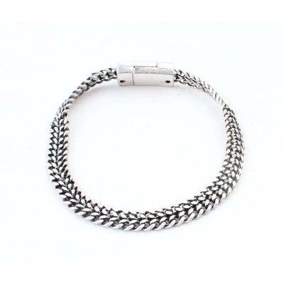 """Armband """"V Links"""" silber"""