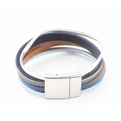 """Bracelet """"Multi rows"""" blue"""