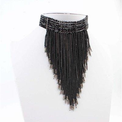 "Necklace ""Plush"" black"