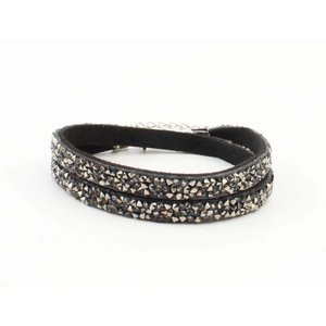 "Multifunction bracelet ""Rhinestone"" grey"