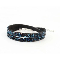 "Multifunction bracelet ""Rhinestone"" blue"