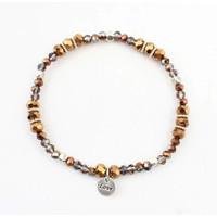 "Rhinestone bracelet ""Ramona"" Brown"