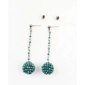 """Earring """"Rhinestone ball"""" green"""