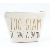 "Mini pouch ""Too Glam"" white"