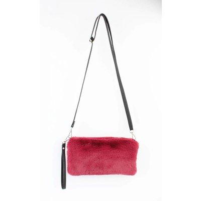 """Crossbody bag """"Fake fur"""" Red"""
