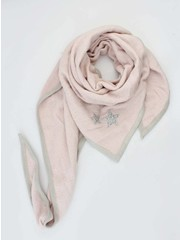 "Triangle scarf ""Stars"" pink"