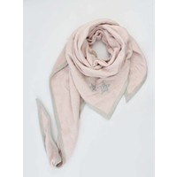 "Triangle scarf ""Stars"" pink"