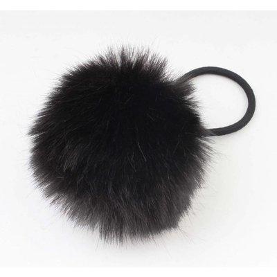"""Haar-Gummibänder """"Kaninchenschwanz"""" schwarz, doppelpack"""
