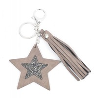 "Keychain ""Star & Tassel"" brown"
