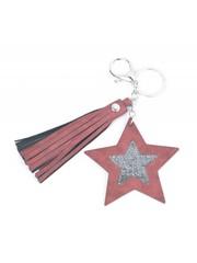 """Keychain """"Star & Tassel"""" red"""
