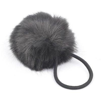 """Hair elastics """"Rabbits tail"""" black, per 2pcs."""