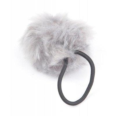"""Hair elastics """"Rabbits tail"""" grey, per 2pcs."""
