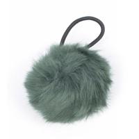 "Hair elastics ""Rabbits tail"" green"