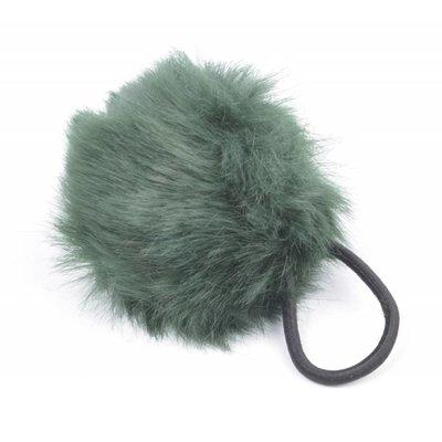 """Haar-Gummibänder """"Kaninchenschwanz"""" grün, doppelpack"""