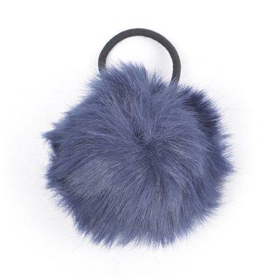 """Haar-Gummibänder """"Kaninchenschwanz"""" blau, doppelpack"""