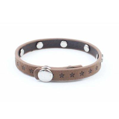"""Armband """"Kleine sterren"""" bruin"""