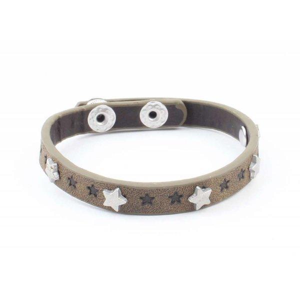 """Armband """"Kleine sterren"""" kakhi groen"""