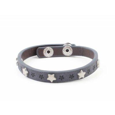 """Armband """"Kleine sterren"""" jeans blauw"""