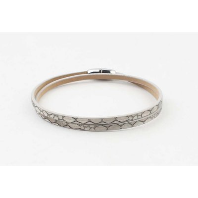 """Wickeln Armband """"Schlange"""" taupe"""