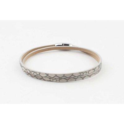 """Wrap bracelet """"Snake"""" taupe"""