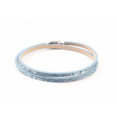"""Wrap bracelet """"Snake"""" blue"""