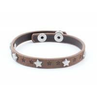 """Armband """"Kleine Sterne"""" braun"""