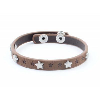 """Bracelet """"Little stars"""" brown"""