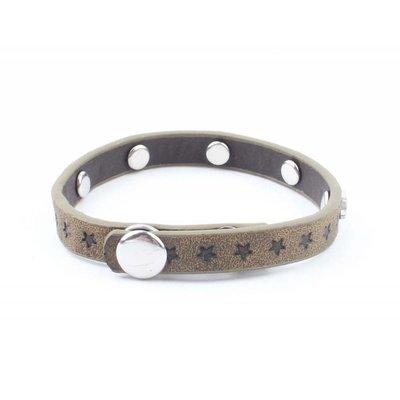 """Armband """"Kleine Sterne"""" Kakhi grün"""