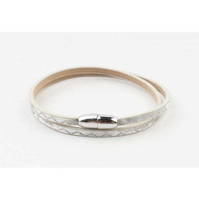 """Wrap bracelet """"Snake"""" silver grey"""
