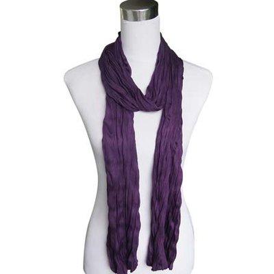 "Schal ""Uni Jersey S"" dunkel lila"